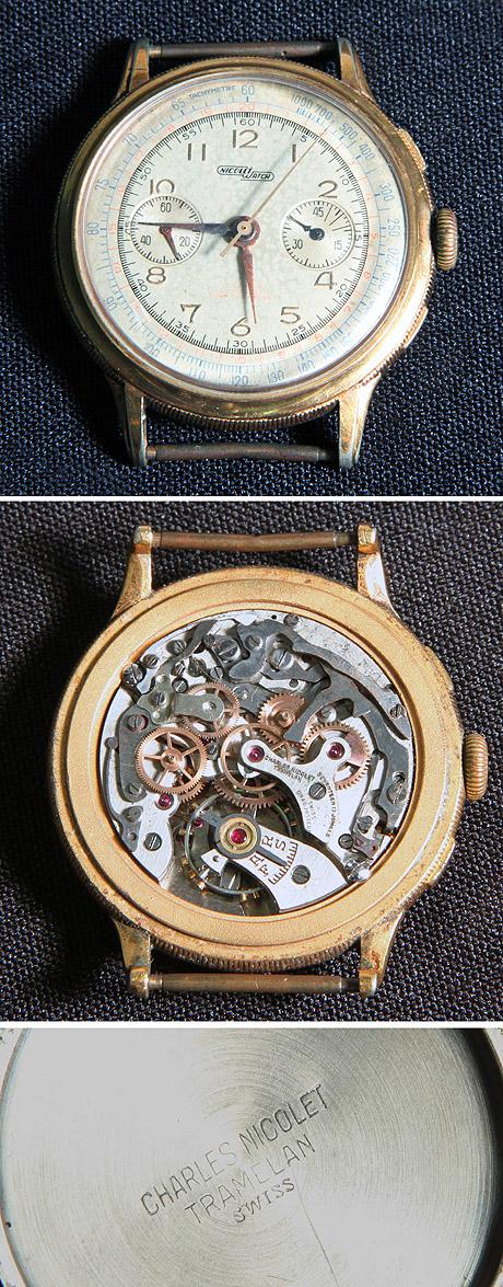 50addb91a58 Antigo relógio de pulso - Swiss made 17 jewels. Caixa em plaquê de ouro.  Tampa de pressão em aço inoxidável